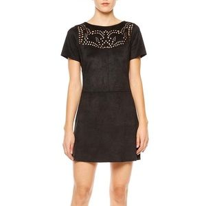 Sanctuary Alexia Laser Cut Faux Suede Dress NWT